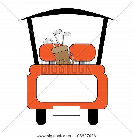 Orange Golf Cart