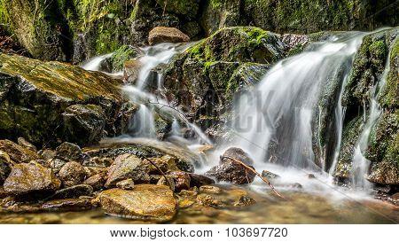 water cascades, waterfalls and climbing rocks