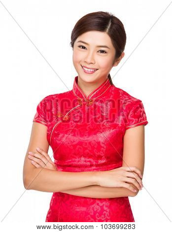 Woman with chinese traditional gown