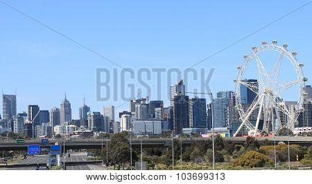 Melbourne cityscape view Australia