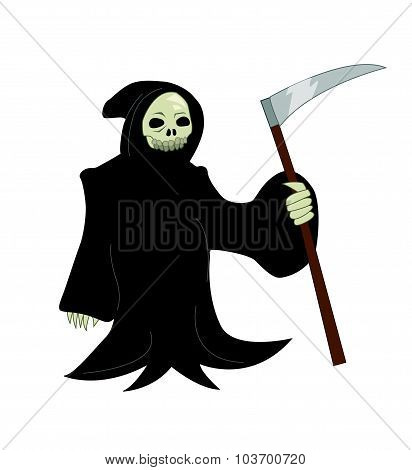 Vector cartoon illustration of a Grim Reaper