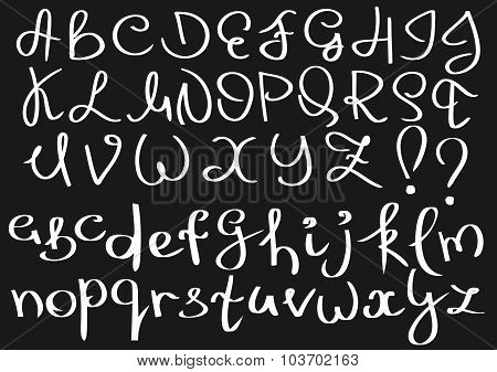 Unusual curved english alphabet.