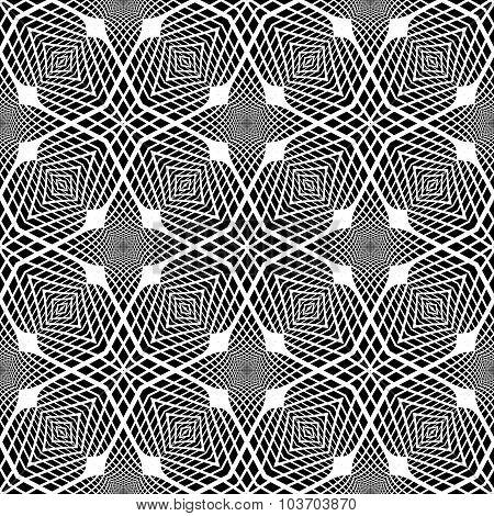 Design Seamless Monochrome Grid Background