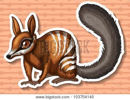 Wild animal with brown fur illustration