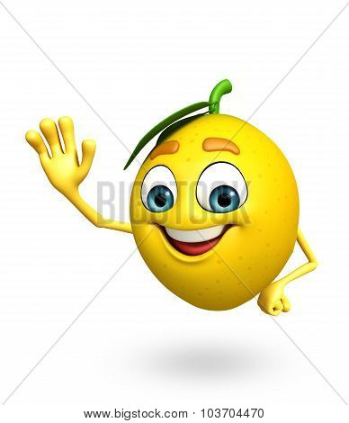 Cartoon Character Of Lemon
