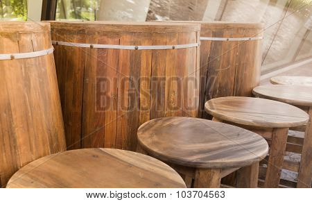 Barrels And Chair