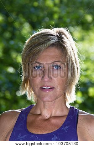 Woman Portrait Doing Sport