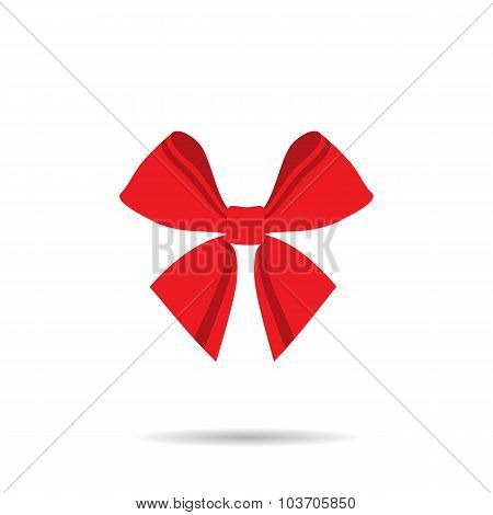 Ribbon Butterfly With Red Lines On A White Background