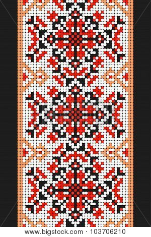 Ukrainian folk art. Traditional embroidery pattern. Abstract vector texture