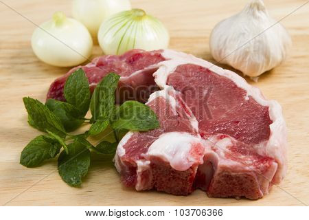 A Welsh lamb chop with herbs