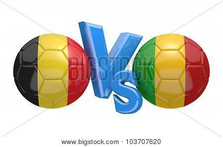 Soccer versus match between national teams Belgium and Mali