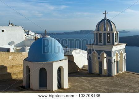 Church in Fira, Santorini, Thira,  Cyclades Islands