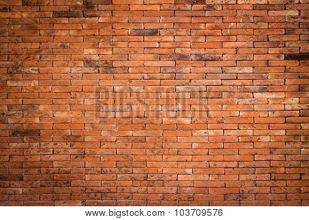 Red Brick Wall And Rough Crack Background Texture