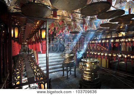 Inside Man Mo Temple, Sheung Wan, Hong Kong Island