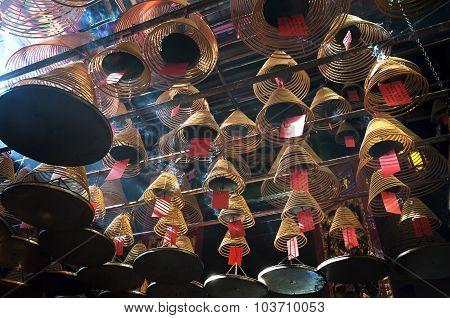Incense Coils At Man Mo Temple, Hong Kong Island