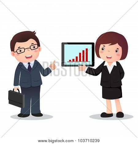 Illustration Of Profession Costume Of Businessman And  .businesswoman  For Kids