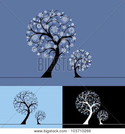 Snow Trees Illustration.