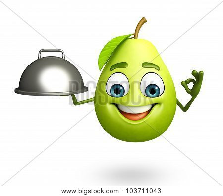 Cartoon Character Of Guava  With Pan