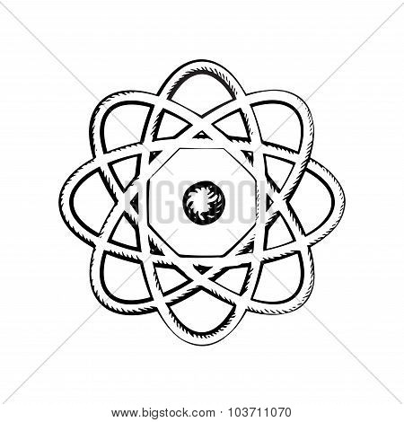 Sientific model of the atom, sketch