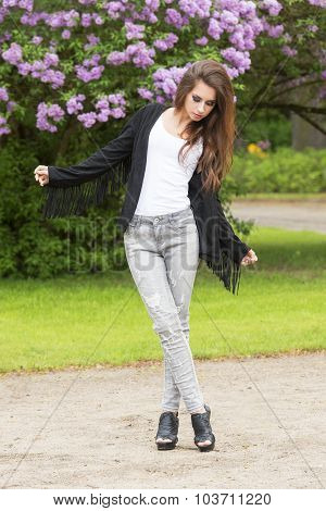 Cute Girl With Fashion Style