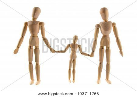 Family Of Wooden Puppets