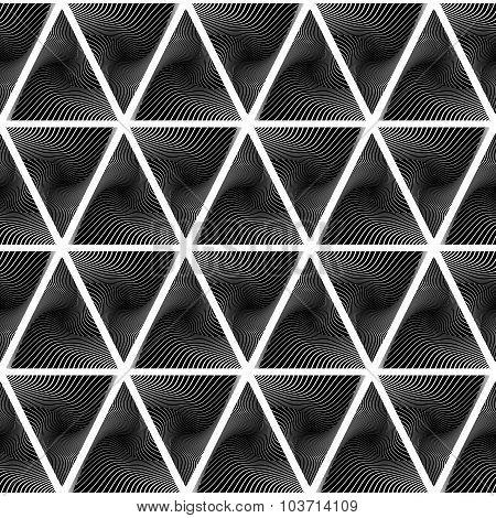Design Seamless Monochrome Triangle Pattern