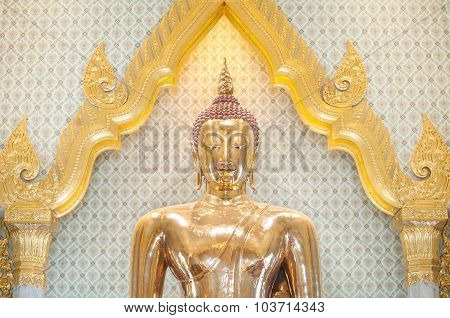 The Largest Solid Gold Buddha Statue In The World, Wat Traimit, Bangkok, Thailand