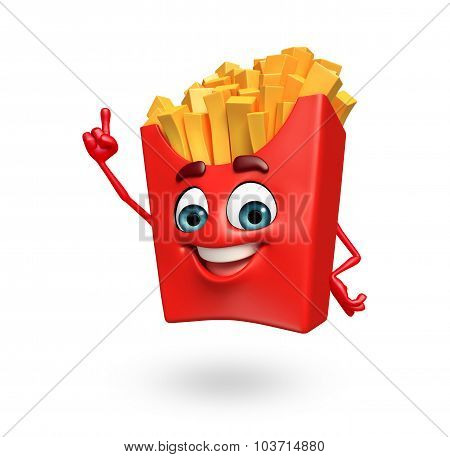 Cartoon Character Of French Fries