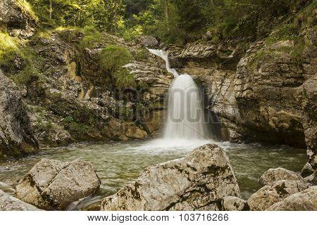Kuhflucht Cascades, Bavarian Mountain Torrent