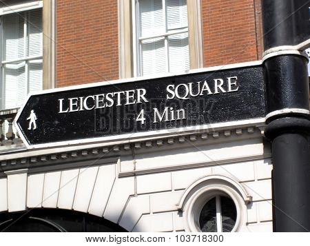 Leicester Square signpost