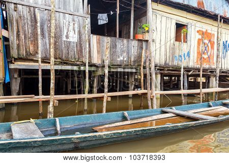 Wooden Shack In Iquitos, Peru