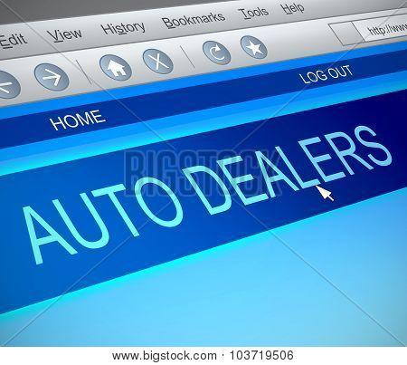 Auto Dealers Concept.