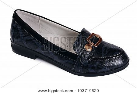 Women's Black Shoes  Isolated On White