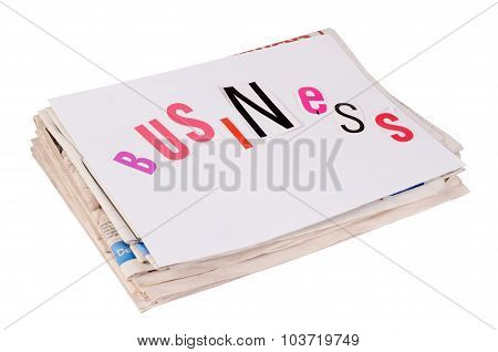 The Combined Newspapers Isolated On White