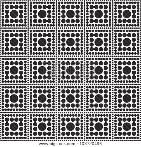 Black And White Polka Dot Square Abstract Design Tile Pattern Repeat Background