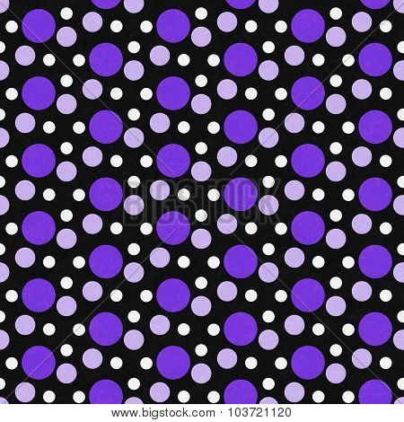 Purple, White And Black Polka Dot Tile Pattern Repeat Background