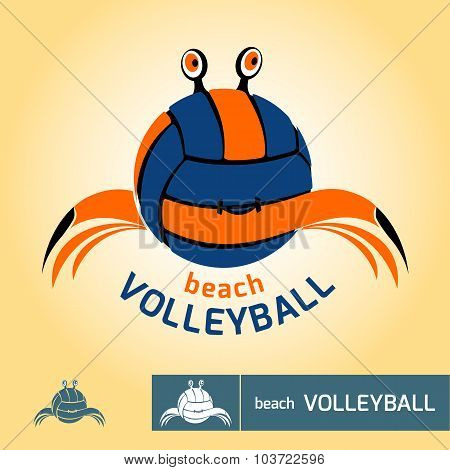 Logo For Beach Volleyball