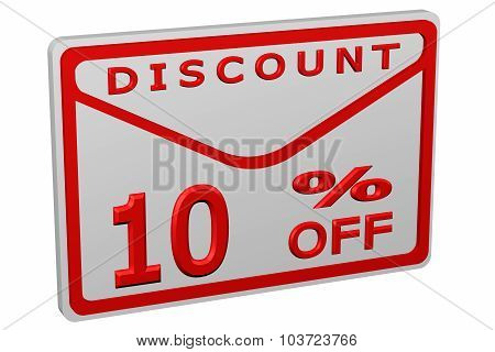 Envelope With Sign Discount 10 % Off