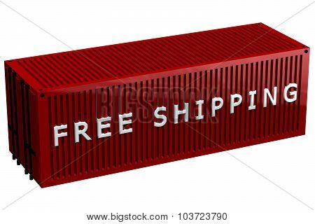 Shipping Container With Words Free Shipping
