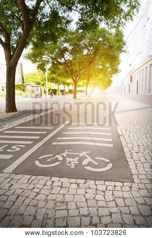 Track for cyclists