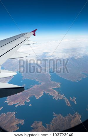 Nice aerial view from an airplane