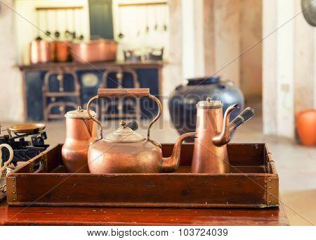 Retro tea-pots