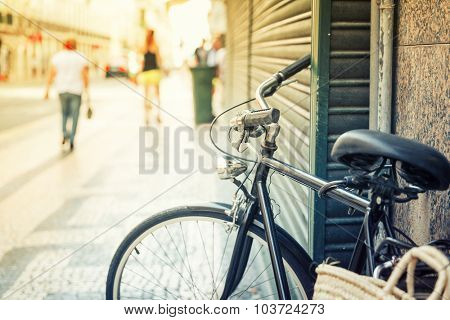 Bicycle on the european streer