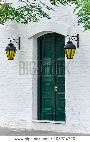 Door With Lanterns, Colonia Del Sacramento, Uruguay