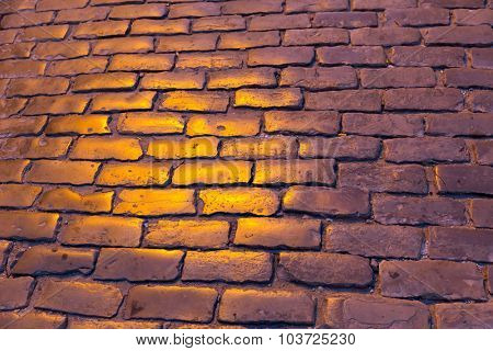 Paved road texture