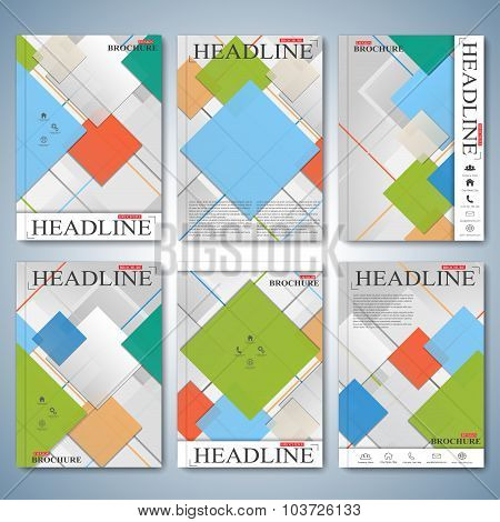 Modern vector templates of brochures , flyer, cover or report in A4 size for your design