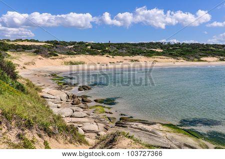 Beach View In Punta Del Diablo In Uruguay