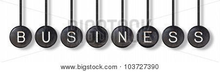 Typewriter Buttons, Isolated - Business