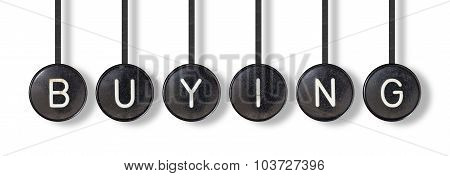 Typewriter Buttons, Isolated - Buying