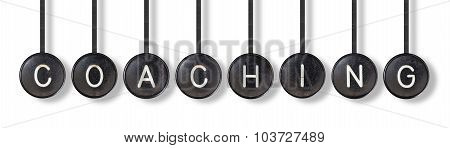 Typewriter Buttons, Isolated - Coaching